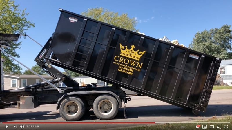 Crown Rolloff Dumpster Video